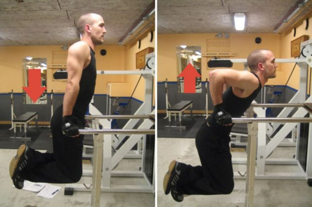 Man doing dips